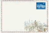 Fototapeta Nowy Jork - Kartka pocztowa w stylu vintage