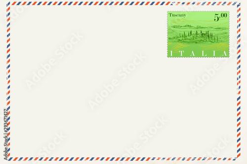 Kartka pocztowa w stylu vintage Canvas-taulu