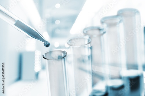 Foto auf AluDibond Natur Science laboratory test tubes , laboratory equipment