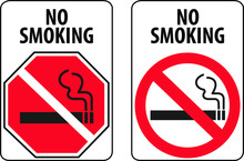 No Smoking Signs In Two Differ...