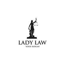 Lady Law Silhouette Logo