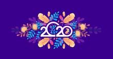 2020 Calendar Abstraction Vector