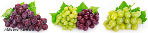 Valokuva Fresh grape on white background