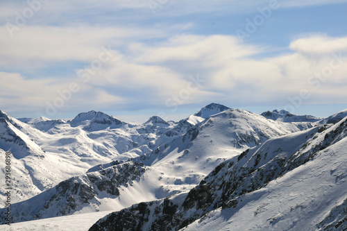 Winter panorama of Pirin Mountain, Bulgaria #293686898