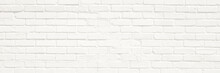 White Brick Wall Background. N...