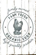 Vintage Farmhouse Organic Eggs...