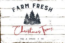 Vintage Christmas Farm Fresh T...