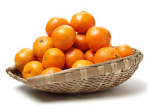 Orange Fruit On The White Background