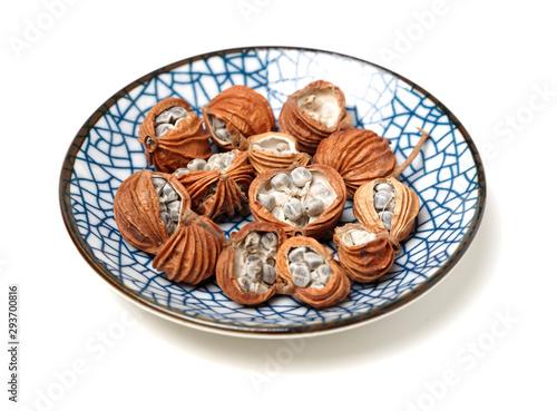 Valokuva  Dried Herbs, Latin name: Amomum villosum Lour