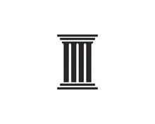 Pillar Icon Symbol Vector