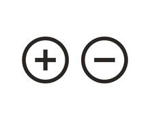 Plus And Minus Icon Symbol Vec...