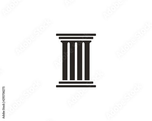 Foto Pillar icon symbol vector