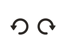 Undo And Redo Icon Symbol Vector