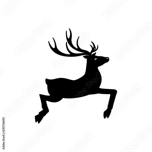 deer jump icon