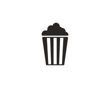 Popcorn Icon Symbol Vector