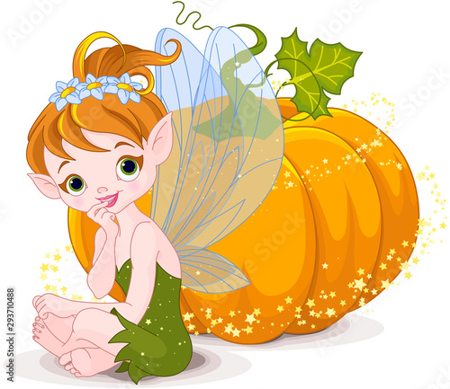 Canvas Prints Fairytale World Halloween Fairy