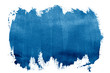 canvas print picture - paint blue strokes brush stroke color texture with space for your own text