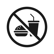 No Food No Drinks Sign. High Q...