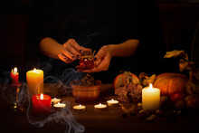 Witch Makes Some Potion, Spell...