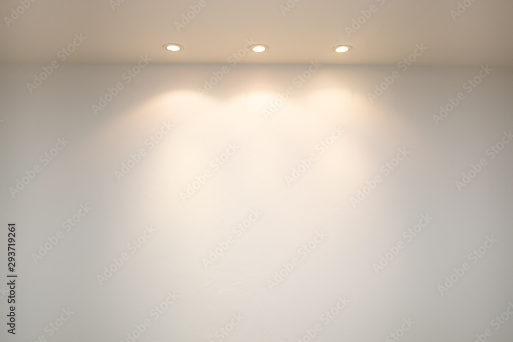Fototapeta ceiling projector lights on wall .