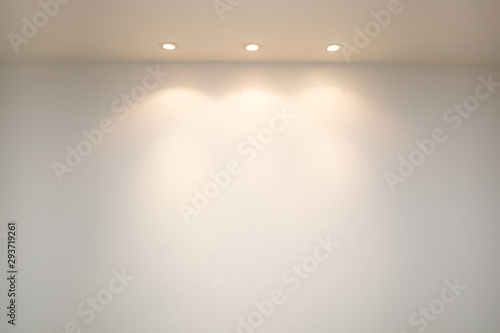 Foto op Canvas Wand ceiling projector lights on wall .