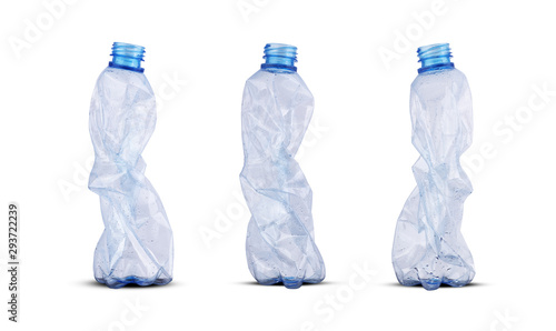 Cuadros en Lienzo  three crushed plastic bottles