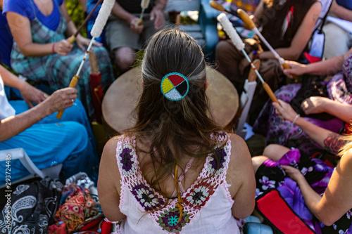 Fotografie, Obraz Sacred drums during spiritual singing
