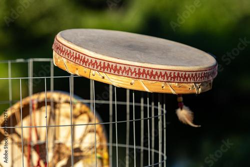 Valokuva Sacred drums during spiritual singing