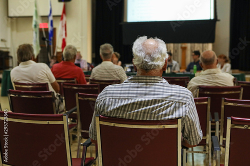 Fotografie, Obraz  People attend local town hall meeting
