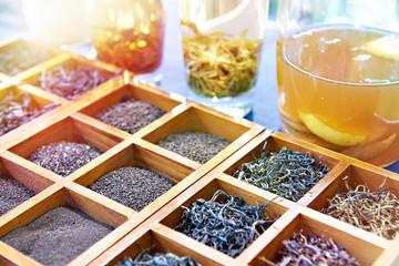 Different varieties of tea