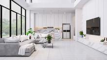 Modren Living Room And Kitchen...