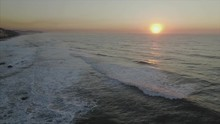 Sunrise Over Ocean And Umhlanga Pier