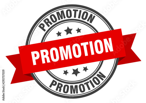 Fotografía  promotion label. promotion red band sign. promotion