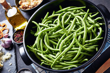 Ingredients For Green Bean Casserole On A Table