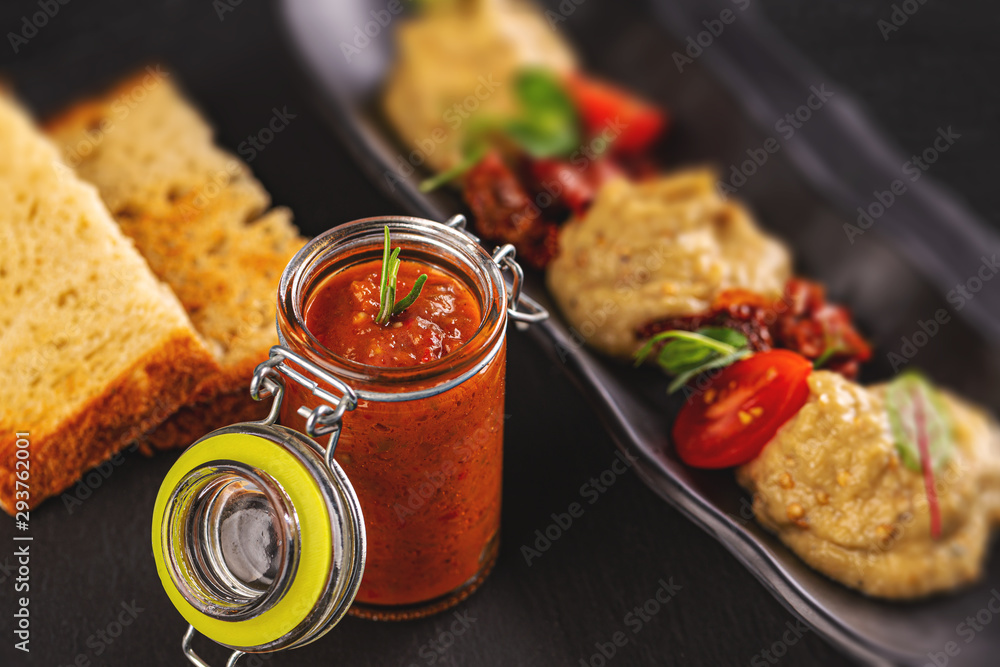 Fototapety, obrazy: Vegetable spread and eggplant cream