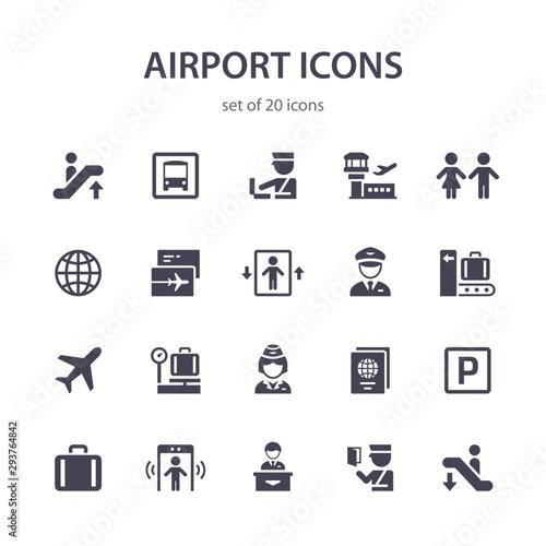 Fényképezés  Airport icons.