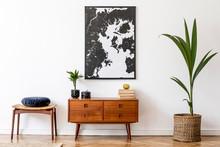Stylish And Retro Living Room ...