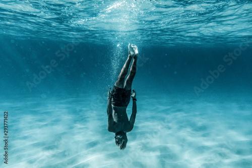 Obraz na plátně diver in the sea