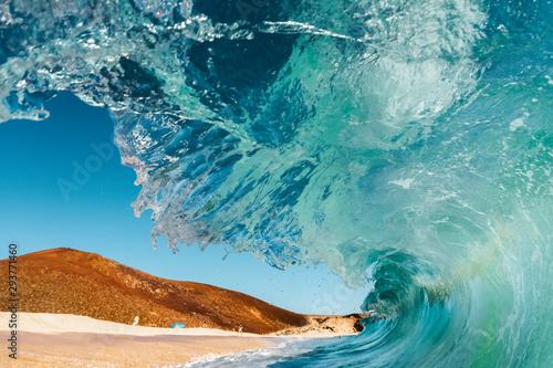 Autocollant pour porte Eau water in the sea