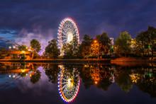 Germany, Colorful Illuminated ...