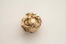 Crumpled Recycle Brown Paper B...
