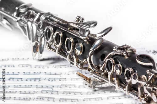 Fototapeta clarinet on a white background