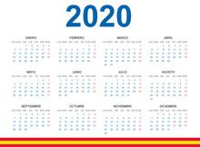 Calendario 2020 En Español Co...