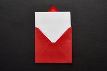 Top View Of Blank Card In Red ...