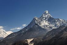 Himalayan Mountains. Trekking ...