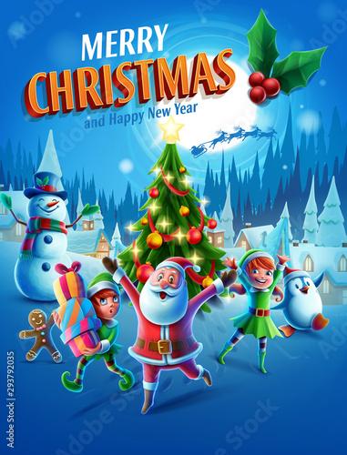 Obraz christmas greeting card - fototapety do salonu