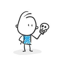 Stickman Blue: Skull, Life. (Nr. 74)