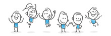 Stickman Blue: Happiness, Succ...