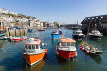 Mevagissey Harbour In Cornwall UK