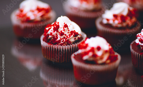 Red Velvet Cupcake Wallpaper Mural